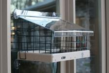 Cage and roof for Window tray feeder