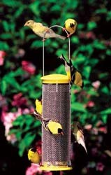 WBU Mesh Finch Feeder with Goldfinches