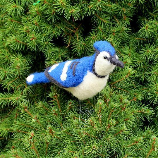 Felted Blue Jay