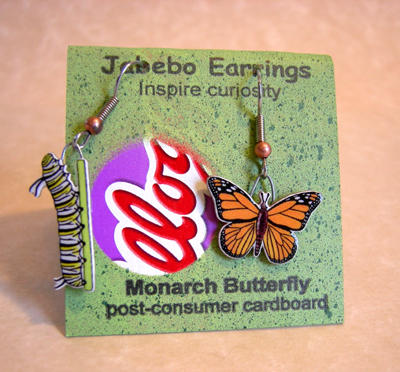 Jabebo Monarch earrings